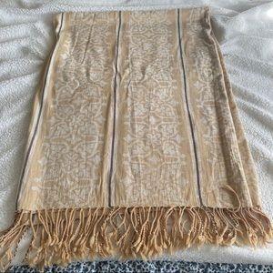 Restoration Hardware Fringe Yellow Throw Blanket